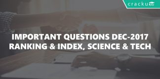 Important Questions- Ranking,SciandTech