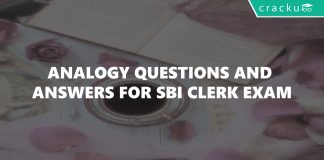 Analogy Questions and Answers for SBI Clerk Exam