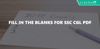 Fill in the Blanks for SSC CGL PDF