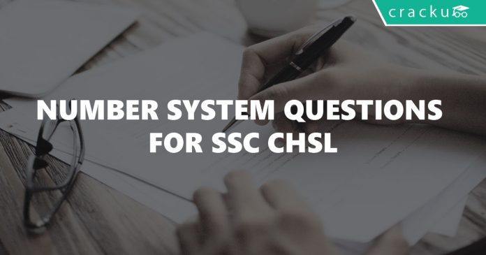 Number System Questions for SSC CHSL