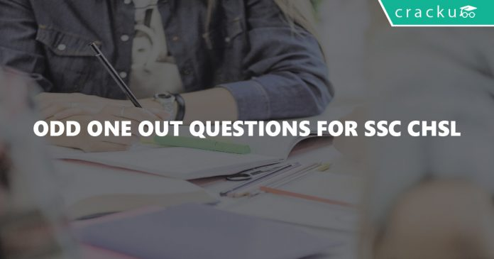 Odd One Out Questions for SSC CHSL