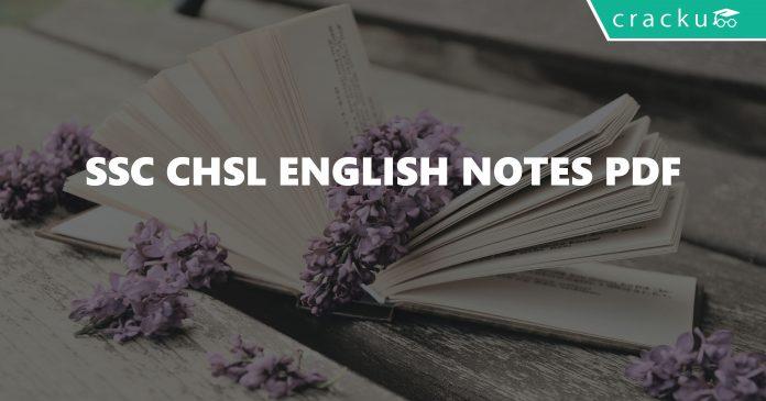 SSC CHSL English Notes PDF