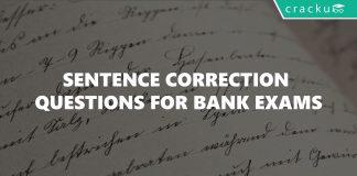 Sentence Correction Questions for Bank Exams