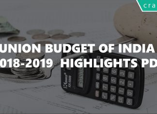Union Budget of India 2018-2019 Highlights PDF