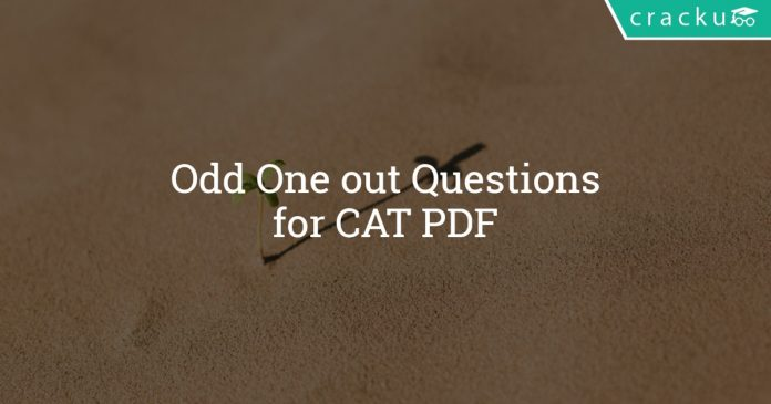Odd one out sentences for CAT