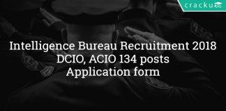IB Recruitment 2018 - Intelligence Bureau DCIO, ACIO 134 posts - Application form