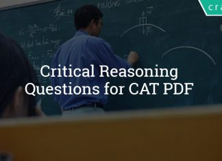 Critical Reasoning Questions for CAT PDF