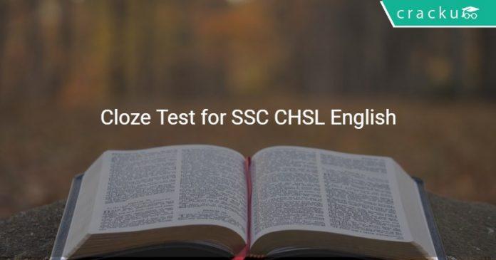 Cloze Test for SSC CHSL English