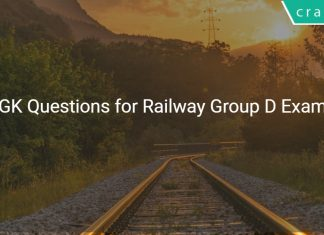 GK Questions for Railway Group D Exam