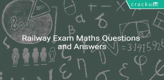 Railway Exam Maths Questions and Answers