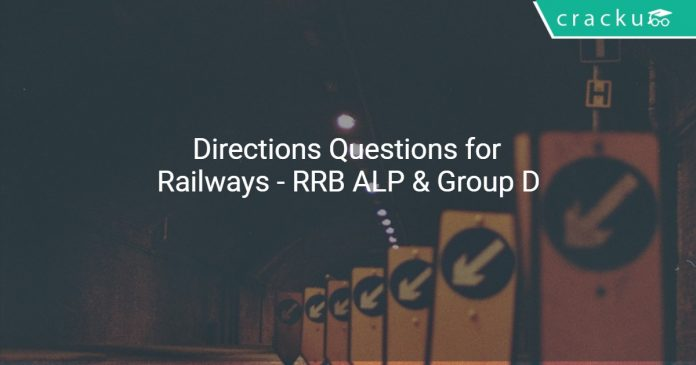 Directions Questions for Railways - RRB ALP & Group D