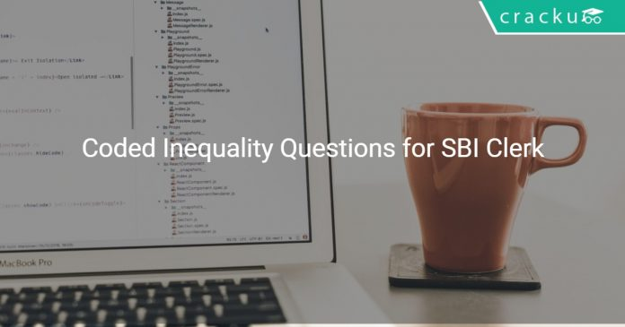 Coded Inequality Questions for SBI Clerk