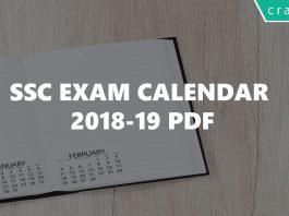 ssc exam calendar 2018-19 pdf