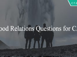 Blood Relations Questions for CAT