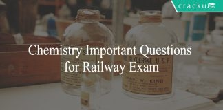 Chemistry Important Questions for Railway Exam