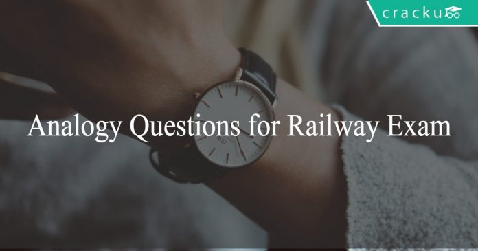 Analogy Questions for Railway Exam