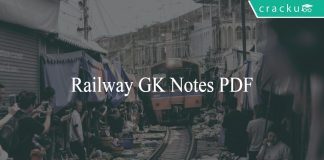 General knowledge and General Awareness notes for Railway RRB PDF