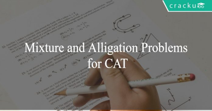 Mixture and Alligation Problems for CAT Set-2
