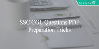 SSC CGL Questions PDF - Preparation Tricks and Tips