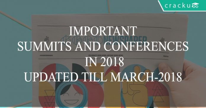 IMPORTANT SUMMITS AND CONFERENCES PDF