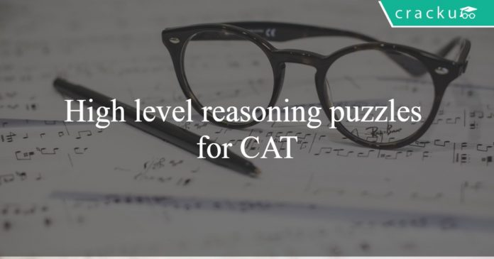 High level reasoning puzzles for CAT