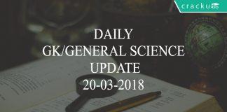 daily GK/GS update 20-03-2018