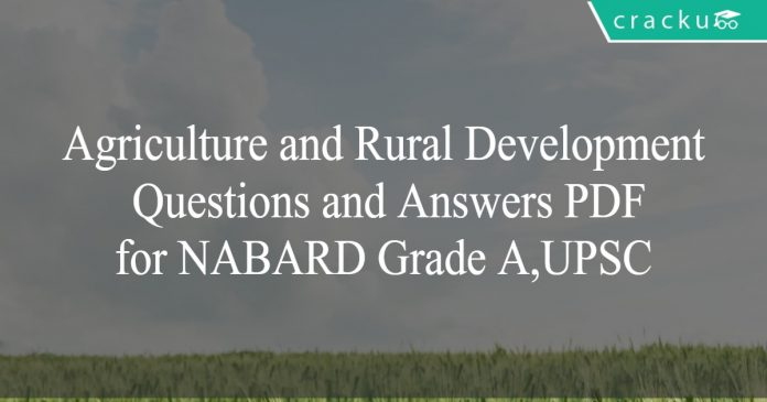 agri and rural development q and a