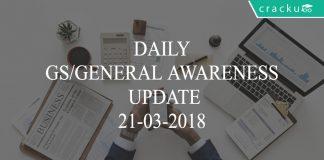 daily gs/ga update 21-03-2018