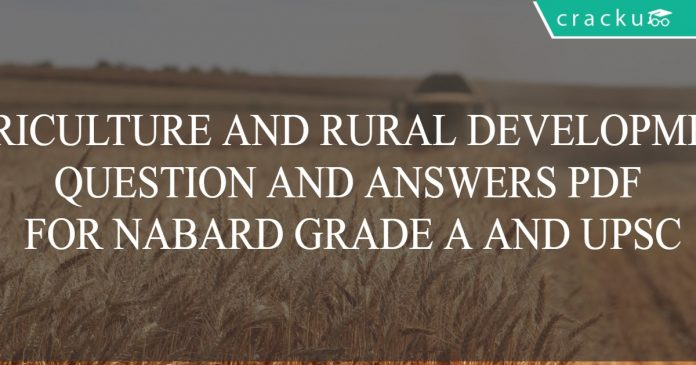 agri and rural development for nabard grade a