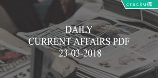 daily current affairs pdf 23-03-2018