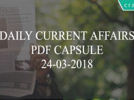 daily current affairs pdf capsule 24-03-2018