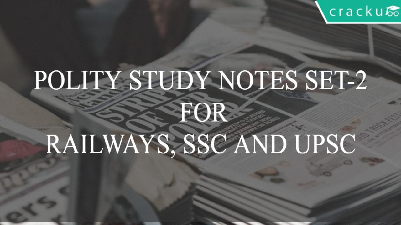 Indian Polity and Governance Study Material PDF Notes Set-2
