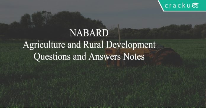 NABARD Agriculture and Rural Development Notes