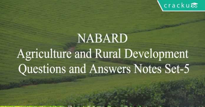 nabard agri and rural dev questions and answers