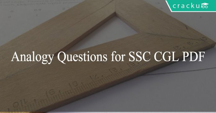 Analogy Questions for SSC CGL PDF