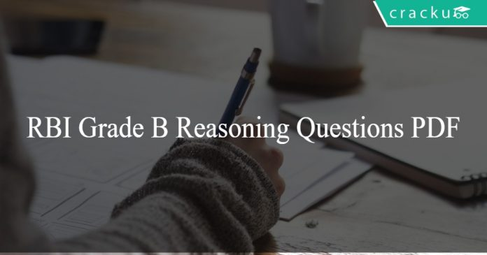 RBI Grade B Reasoning Questions PDF