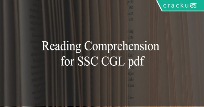 Reading Comprehension for SSC CGL pdf