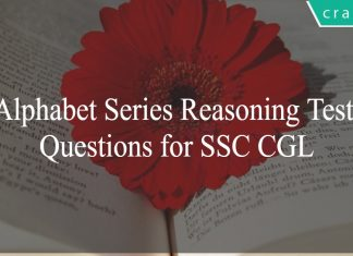 Alphabet Series Reasoning Test Questions for SSC CGL