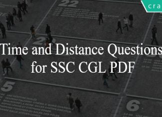 Time and Distance Questions for SSC CGL PDF