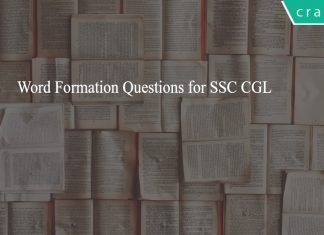 Word Formation Questions for SSC CGL