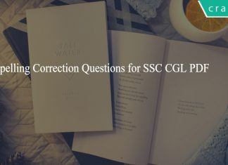 Spelling Correction Questions for SSC CGL PDF