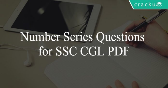 Number Series Questions for SSC CGL PDF