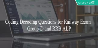 Coding Decoding Questions for Railway Exam - Group-D and RRB ALP