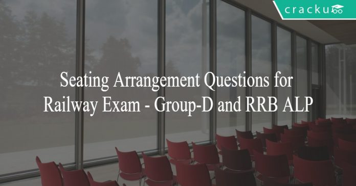 Seating Arrangement Questions for Railway Exam - Group-D and RRB ALP
