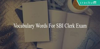 Vocabulary Words For SBI Clerk Exam