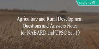 agri and rural development notes for nabard set 10