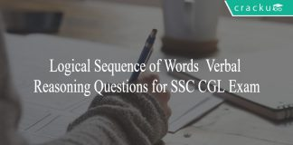 Logical Sequence of Words - Verbal Reasoning Questions for SSC CGL Exam
