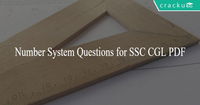 Number System Questions for SSC CGL PDF