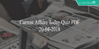 ca today quiz 20-04-2018