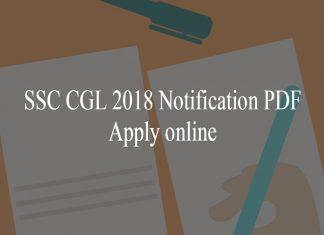 SSC CGL 2018 Notification PDF